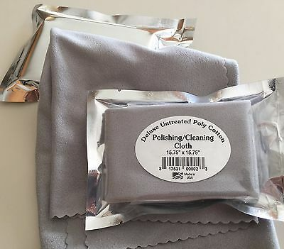 Lg Deluxe Polishing/Cleaning Cloth Jewelry, Watches, Guitar,Violin, Made in USA