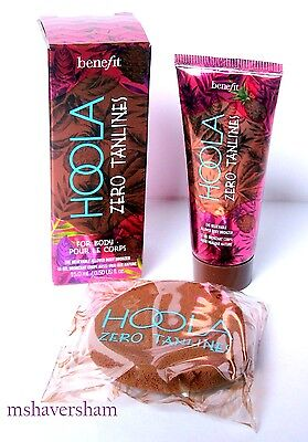 NIB Benefit Hoola Zero Tanlines Allover Body Bronzer .5 oz/15 ml Travel/Trial Sz