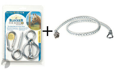 Blocker Tie Ring II Chrome with Mag Lock Loc+Plastic covered Tie Chain w clips