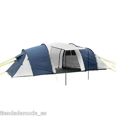 12 Person Family Waterproof Camping Tent Dome Large Hiking 3 Rooms Navy Grey AU