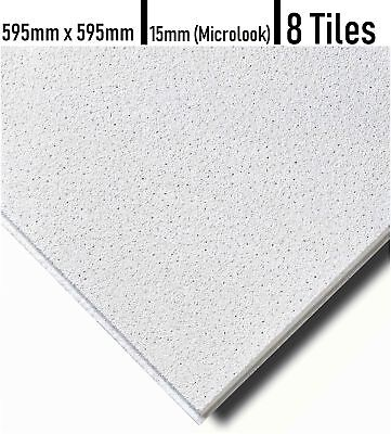 SUSPENDED MICROLOOK SANDTONE CEILING TEGULAR TILES 600 x 600mm 15MM GRID 10/BOX