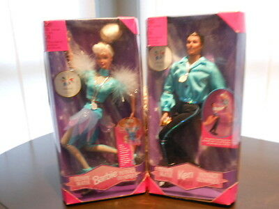Nagano 1998 Olympic Skater Ken & Barbie Dolls
