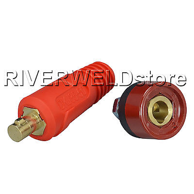 Quick Fitting Cable connector-Plug + Socket DKJ35-50 & DKZ35-50 With Red Color