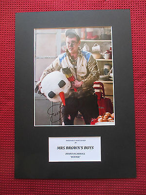 Danny O'carroll Mrs Brown's Boys Comedian Signed A3 Photo Mount Display - Proof