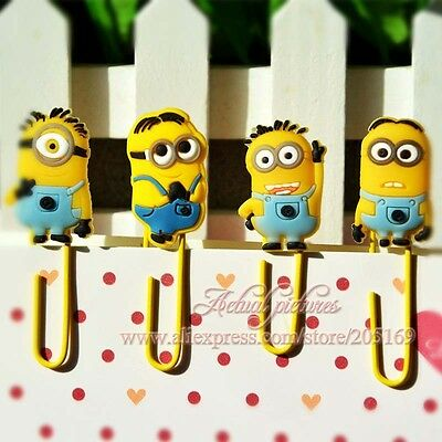 12pcs Despicable Me Minions Paper Clips Bookmarks School Stationery Gift 4073-01
