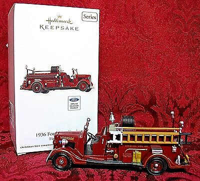 Hallmark 2012 Fire Brigade Series #10~1936 Ford Fire Engine
