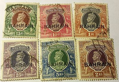 Bahrain   Scott#32-37 Cpl Set    Used..worldwide Stamps
