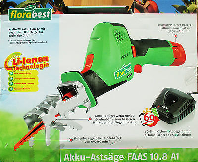 Garden Battery Branch saw FAAS 10.8 A1 Powerful 10,8 V Lithium Ion Battery