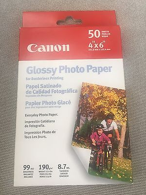 "Canon Photo Paper Glossy 6"" x 4"" 50 Sheets"