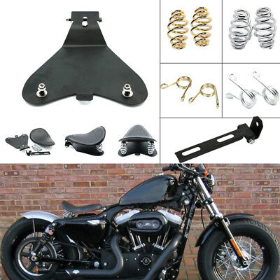 Motorcycle Solo Seat 3'' Spring Mounting Bracket Kit W/ Baseplate For Harley