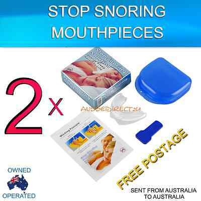 2 Stop Snoring Solution easy fit EVA mouthguard  or mouthpiece for sleep  apnea