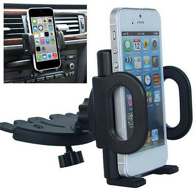 Universal Car CD Slot Mount-Holder Stand Cradle For Mobiles Phone iPhone/Android
