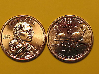 "2016 P&D - $1 Native American ""Code Talkers"" Golden Dollar Coin Set"