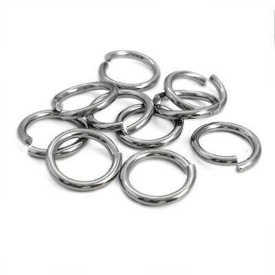 50 x Stainless Steel 2mm Thick Flush Cut Jump Rings - Two Sizes Heavy Gauge