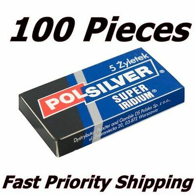 100 Polsilver Super Iridium De Blades Priority Tracking Limited Quantity