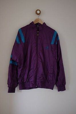 Vintage purple and blue shell suit jacket S