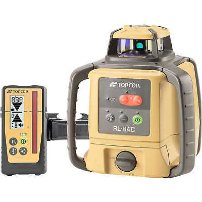 Topcon RL-H4C Self-Leveling Laser Level with Rechargeable Ni-MH Battery and L...