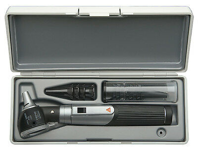 HEINE mini 3000 LED F.O. Diagnostic Set, LED Otoscope with battery handle