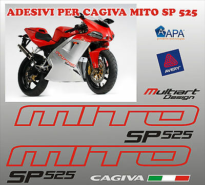 Kit  Adesivi Per Cagiva Mito 525 Sp Stickers Cagiva  Carene Introvabili.