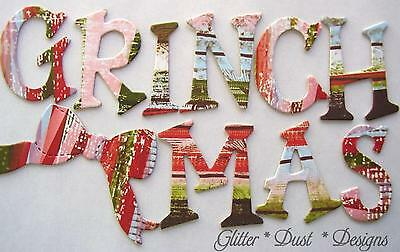 """Rusty Pickle *GRiNCHMAS* Chipboard Letters - Christmas Alphabet Set - 1.5"""" inch"""