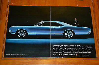 1965 Oldsmobile Dynamic 88 Delta Coupe Large Ad / Vintage Retro 60S American