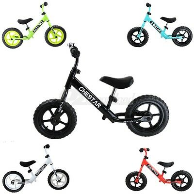 12'' Adjustable Seat and Handlebars Kids Balance Bike with Bell and Stand 2-6yrs