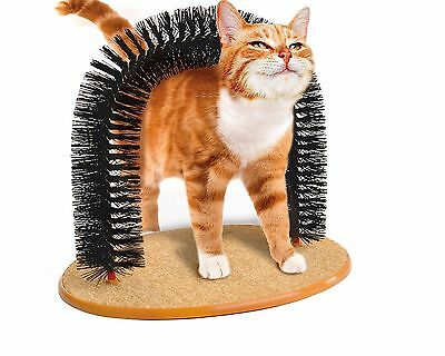 Cat Grooming Arch Bristles Scratching Cat-Nip Toy Kittens Massager 30780