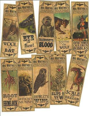 20 Vintage look ~Halloween ~primitive labels ~Apothecary~Magical Concoctions