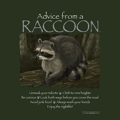 Advice From A Raccoon Small Adult T-Shirt