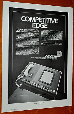 1984 Dukane 2070 Telephone Communication System For Hospitals Ad - Vintage 80S
