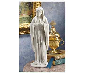 Virgin Mary Marble Statue Our Lady Catholic Figurine Madonna Blessed Mother New
