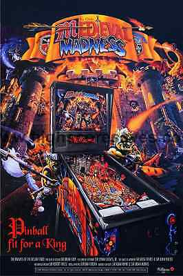 Medieval Madness reproduction pinball game poster