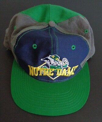 Vintage The Game NOTRE DAME Fighting Irish Snapback Hat Cap NCAA Free Shipping