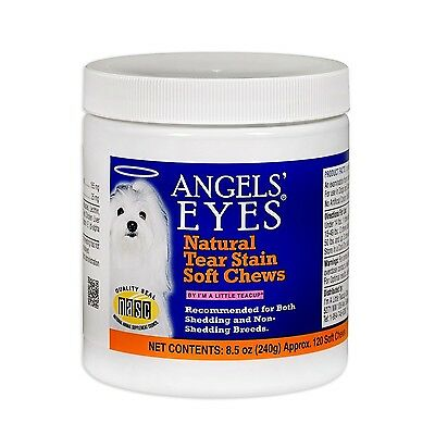 Angels Eyes Natural Tear Stain Remover, Soft Chews, Chicken Flavor,120 or 240