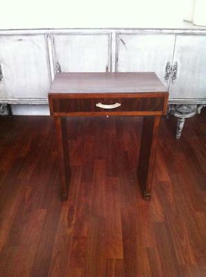 Art Deco Mahogany One Drawer Occasional / Side Table Circa 1920