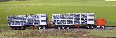HO scale stock trailer laser cut timber kit ROAD TRAIN