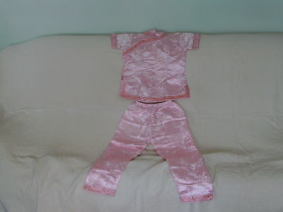 Girls 10-11-12 Years - Traditional Chinese Outfit - Light Pink Top & Trousers