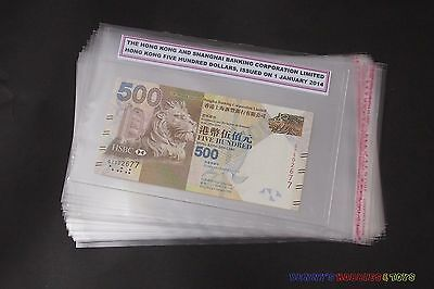 50 Paper Money Sleeve Side Closing Self adhesive For PMG Graded Banknote Holder