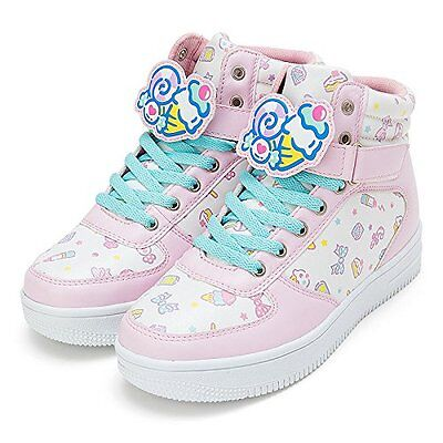 Sanrio Fresh Punch High-Cut Sneakers with Character Clip M Size 848085 New