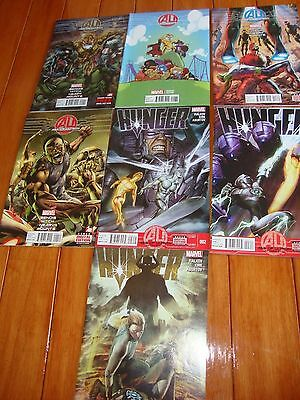 Age of Ultron lot AU Book1&Variant Edition Book3&4, HUNGER 2,3,4Avengers!Marvel