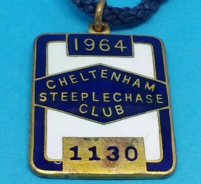Cheltenham Horse Racing Members Badge - 1964 (Arkle first gold cup win of three)