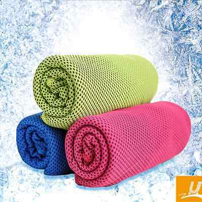 Instant Cooling Towel Camping Hiking Gym Exercise Sport Sweat Quick-Dry Ice Cold