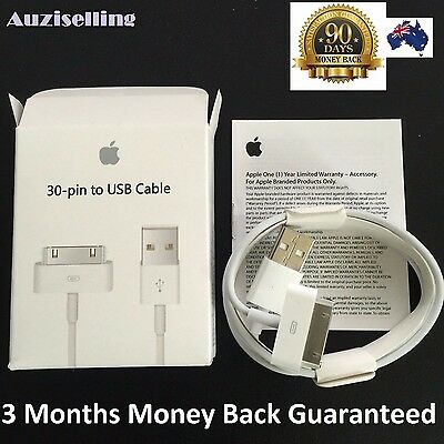 APPLE USB Charger Data Sync Cable iPhone 4 4S 3S iPod iPad 2 3 with retail pack