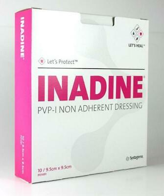 Inadine dressing PVP-Iodine Dressings 9.5cm x 9.5cm- pack of 5 **Free Delivery**