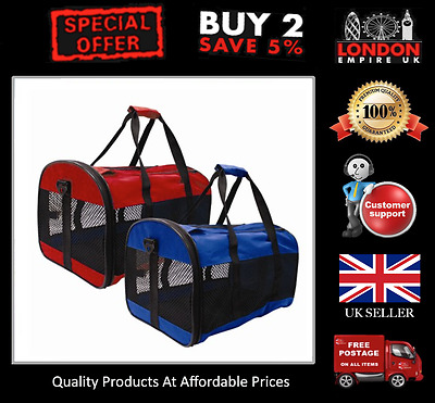 Collapsable Pet Carrier Fold Away For Small Dog Rabbit Cat