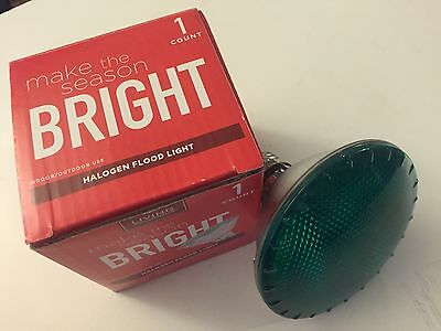 Green Halogen Flood Light By Living Solution New In Box