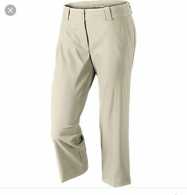 Nike Ladies Dri-FIT Tech Crop Golf Pants - Khaki Size 6