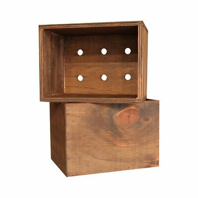 Set 5 Walnut Timber Box to hold Restaurant Clipboards