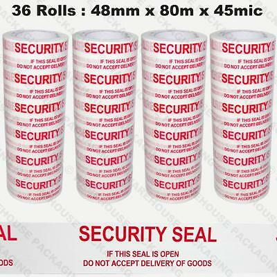 Security Seal Tape 36 rolls 48mm x 80 m 45 Micron Industrial Strength