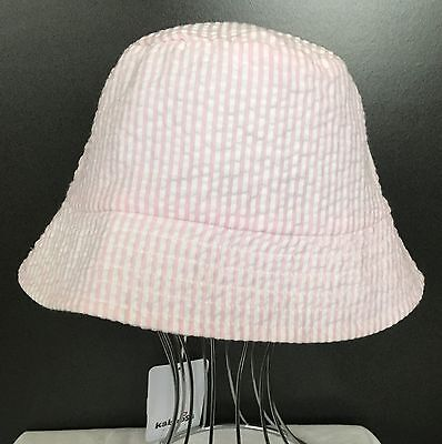 *New* Kaboosh Girls Pink Seersucker Bucket Hat Large
